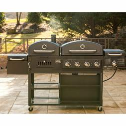 NEW Smoke Hollow 4 in 1 Combo Grill 3 burner & BBQ Smoker Bo