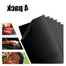 2 Pack= 4 PCS Mats Easy BBQ Grill Mat Bake NonStick Grilling