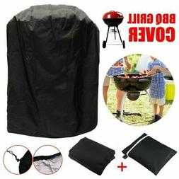 """23X30"""" Patio Round Fire Pit Cover Waterproof UV Protector Gr"""