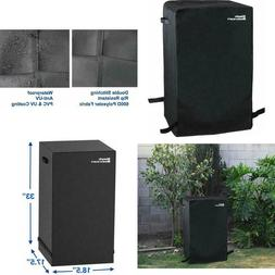"30"" Heavy Duty Waterproof Square Electric Smoker Grill Cover"
