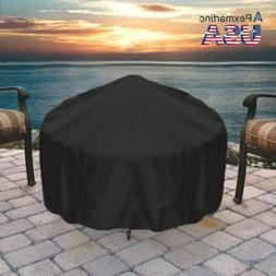 30 IN Round Durable Black Fire Cover Waterproof UV Protector