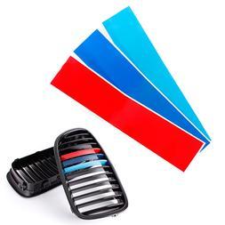 3pcs Car Grille M Color Front <font><b>Grill</b></font> Stri