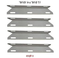 BBQ funland 4-pack Stainless Steel Gas Grill Heat Plate, Hea
