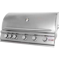 Blaze 40-Inch 5-Burner Built-In Propane Gas Grill With Rear