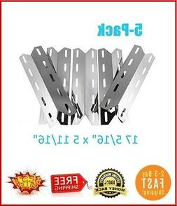 5-pack BBQ Gas Grill Stainless Steel Heat Plates Shield Tent