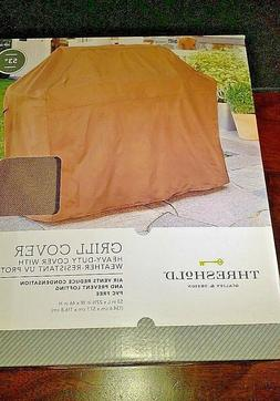 """Threshold 53"""" Brown Grill Cover Heavy-Duty"""