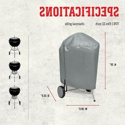 """57 cm Kettle Grill Charcoal Barbecue Cover Vinyl Outdoor 22"""""""