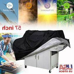 """57"""" Large BBQ Grill Cover Heavy Duty Gas Barbecue Outdoor Wa"""