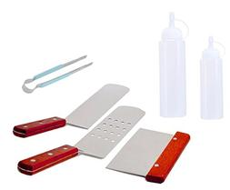 6-Piece BBQ Griddle and Grill Spatulas Cleaning Tools for Bl