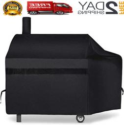 "66"" BBQ Grill Cover Heavy Duty Waterproof Fits Brinkmann Tra"