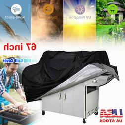 "67"" Large BBQ Grill Cover Heavy Duty Gas Barbecue Outdoor Wa"