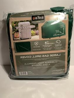 68 Inch Grill Cover Deluxe Green Vinyl Flannel Lined 68x21x4