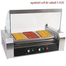 FCH 7 Roller Hot-dog Maker Grill Cooker Machine Stainless St