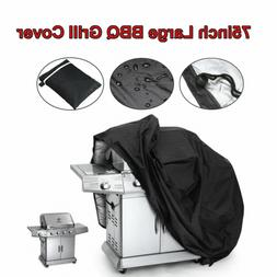 "75"" Outdoor BBQ Grill Cover Large Waterproof Garden Barbecue"