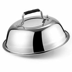 9 Inch Round Basting Cover Stainless Steel Grill Cooking Lid
