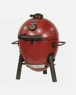Char-Griller Akorn Jr. Kamado Kooker Charcoal Grill Red, New
