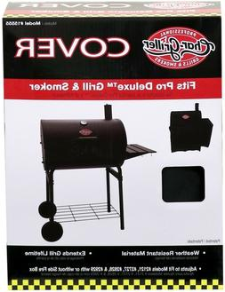 Char-Griller Smokin Pro/ Pro Deluxe Grill Cover, Black, 5555