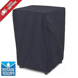 """Electric Smoker Cover Square 30"""" Black Heavy Duty Waterproof"""