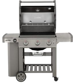 New Weber BBQ Propane Gas Grill Stainless Steel Outdoor Cook