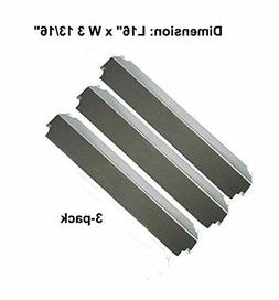 Stainless Steel Heat Plates 3pk BBQ Gas Grill Parts Shield C