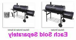 American Gourmet Offset Smoker Deluxe Black Steel 3 in 1 Smo