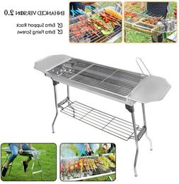 Barbecue Charcoal Grill Stove Shish Kebab Stainless Steel BB