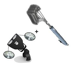 Barbecue Grill Brush + BBQ Grill Light - LUXURIOUS GIFT BOX