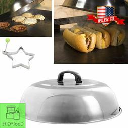 "Basting Cover 12"" Griddle Grill Cooking Steamer Lid Dome BBQ"