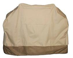 BBQ Cover Cabana Style Waterproof 2 Tone Beige/Brown 4sz. Ch
