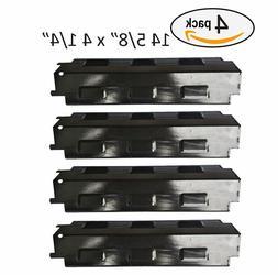 BBQ Gas Grill 4 Heat Plates Shield Cover Porcelain Steel Par