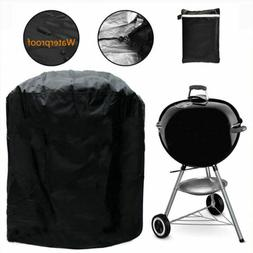 BBQ Grill Cover Kettle Barbecue Round Gas Oven Cover Waterpr