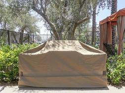 """Premium Tight Weave BBQ Island Grill Covers up to 100""""L"""