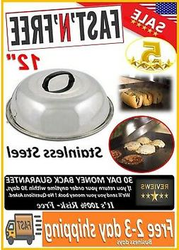 "ZHOUWHJJ BBQ Stainless Steel 12"" Round Basting Cover/Cheese"