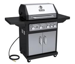 Dyna-Glo Black & Stainless Premium Grills, 4 Burner, Natural