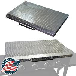 Diamond Plated Hard Cover Griddle Lid for Blackstone 36 Inch