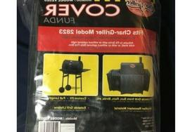 """Char-Griller 23"""" Vinyl Wrangler Grill Cover  Model 2323 Fits"""