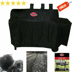 Char-Griller 63-in x 50 in Black Polyester Gas Grill Cover F