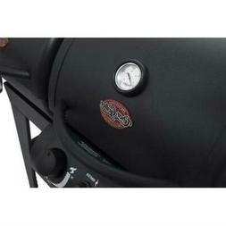 Char-Griller Dual 2 Burner Charcoal & Gas Grill, Black, E503