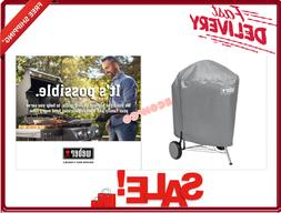 Weber Charcoal Kettle Grill Cover All Weather Fabric Storage