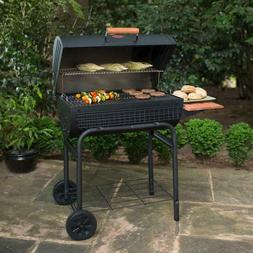 Combination Charcoal Grill & Barrel Smoker w Shelf Deck BBQ