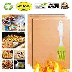 Copper Grill Mat Oven Liners BBQ Baking Mats - 100% Non Stic