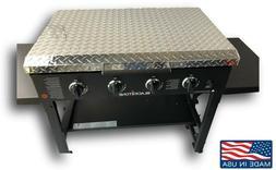 "Diamond Plate Aluminum Lid Storage Cover for 36"" Blackstone"