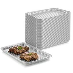 10-Pack Disposable Aluminum Foil BBQ Grill Topper Pan – Pr
