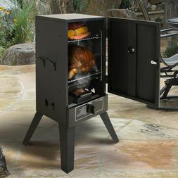 Gas Smoker Grill LP Propane Vertical Outdoor BBQ Wood Chips