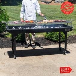 Heavy Duty Outdoor Portable Charcoal Grill with Removable Le