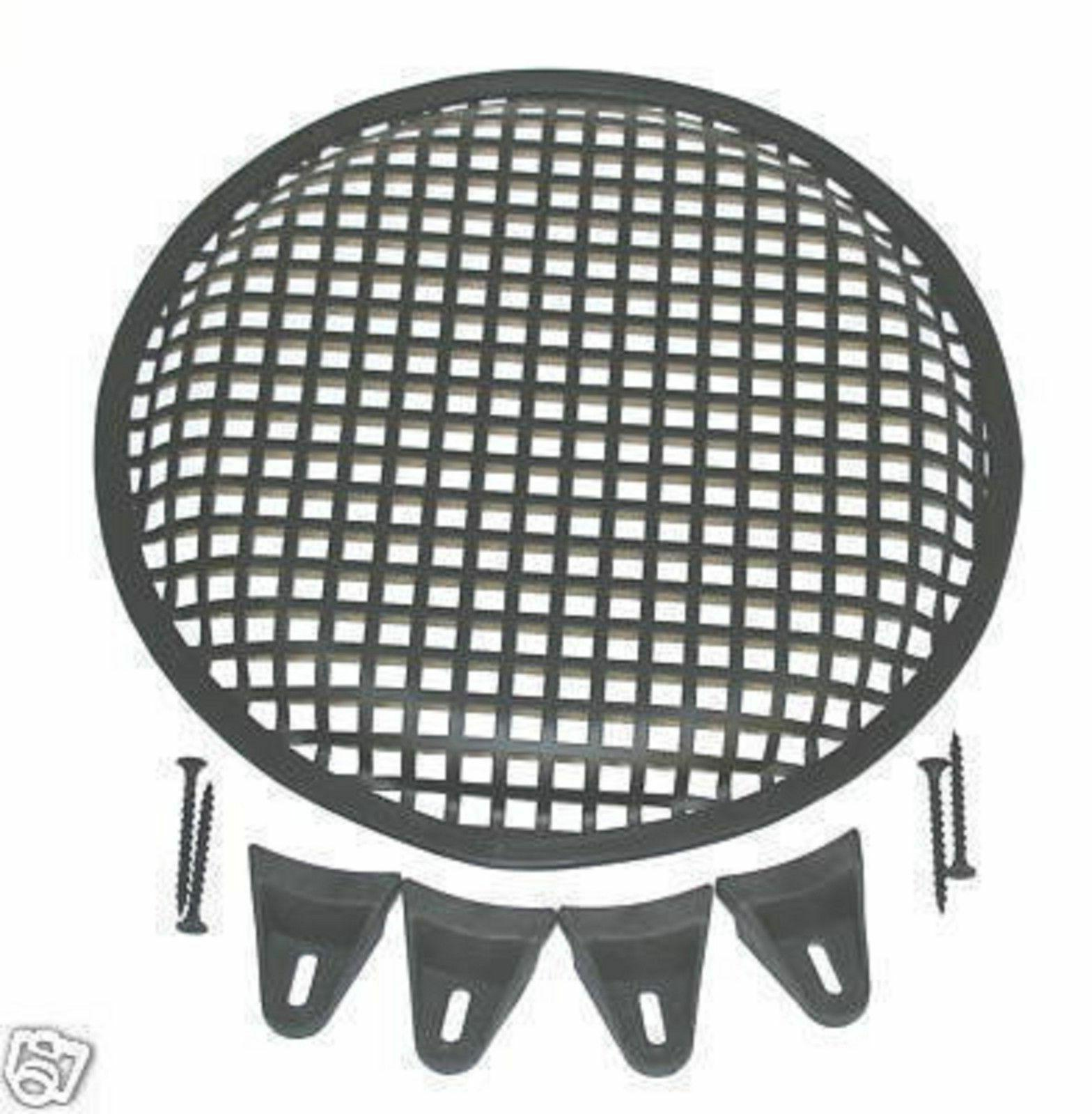 1 12 INCH STEEL SPEAKER SUB SUBWOOFER GRILL COVER W/CLIPS SC
