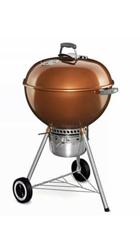 Weber 14402001 Original Kettle Premium Charcoal Grill, 22-In