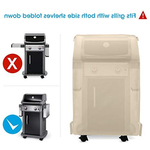 UNICOOK 2 Gas Grill Cover32 Inch Heavy Small Space Grill Grill Tables Char-Broil Dyna-Glo Sand