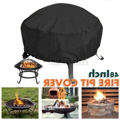 48-inch Patio Round Fire Pit Waterproof UV Protector -US