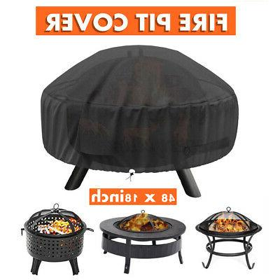 48 inch patio round fire pit cover